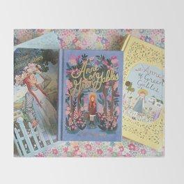 Anne of Green Gables Books Throw Blanket