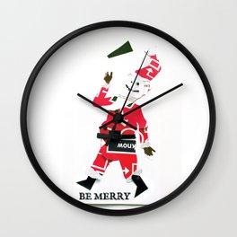 Be Merry, Pixel-face Wall Clock
