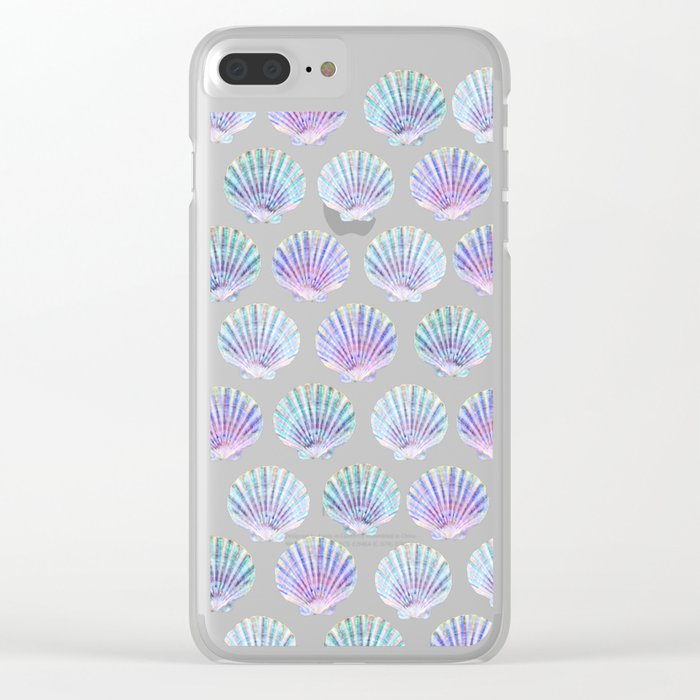 iridescent shells pattern Clear iPhone Case