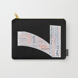 Life Path 7 (black background) Carry-All Pouch