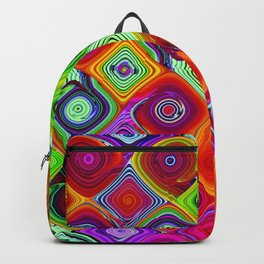 Mosaic Digital Abstract Beautiful Nature Art Backpack