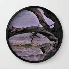 Drift Wood Beach 7 Wall Clock