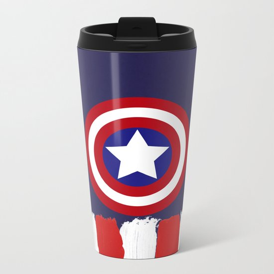 "Captain ""Steve Rogers"" America Metal Travel Mug"
