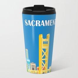 Sacramento, California - Skyline Illustration by Loose Petals Travel Mug