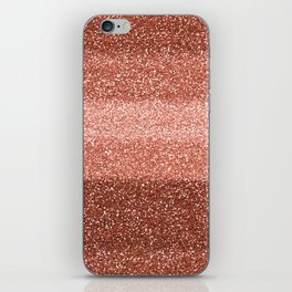 Rose Gold Sparkle iPhone Skin