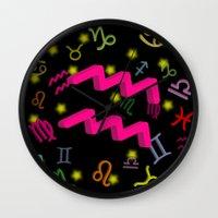 aquarius Wall Clocks featuring Aquarius by Thisisnotme