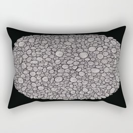 Black and white abstract Rectangular Pillow