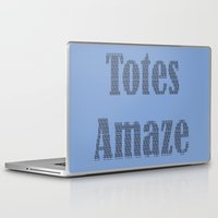 totes Laptop & iPad Skins featuring Totes Amaze Blue by PintoQuiff