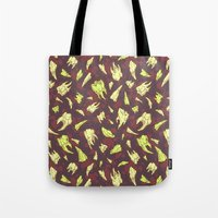 teeth Tote Bags featuring Teeth by Ejay Basford
