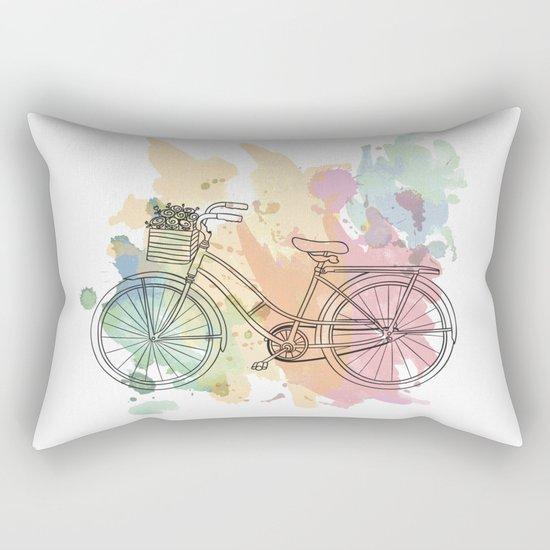 Cycle Painting Rectangular Pillow