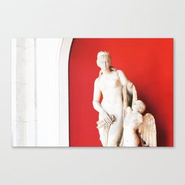 200. Red Statue, Rome Canvas Print
