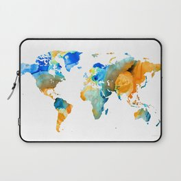 World Map Art - Map Of The World 14 - By Sharon Cummings Laptop Sleeve