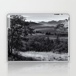 Scenic Columbia River Gorge in Black and White Laptop & iPad Skin