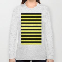 Stripes (Black & Yellow Pattern) Long Sleeve T-shirt