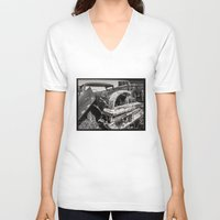 cars V-neck T-shirts featuring Dead cars by Bruce Stanfield Photographer