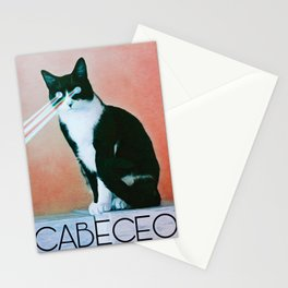 Milonga Cat Uses Laser Focus Cabeceo Stationery Cards