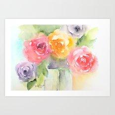 Soft Bouquet Art Print