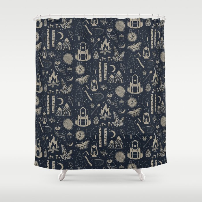 Into the Woods: Stargazing Shower Curtain