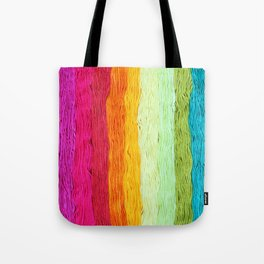 Rainbow Yarn Tote Bag