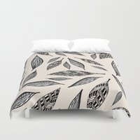 boho Duvet Covers featuring BOHO FEATHERS  by Vasare Nar