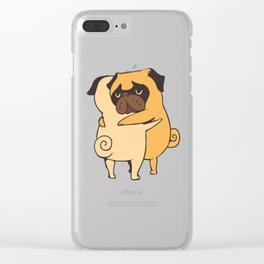 Pug Hugs Clear iPhone Case