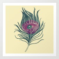 Feather in my eye Art Print