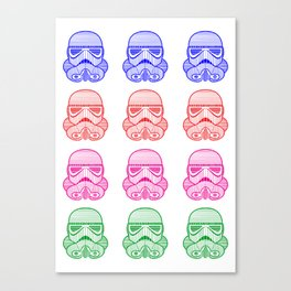 Multi-color Stromtrooper Canvas Print