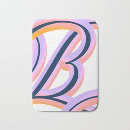 Vintage Feel. Colourful and Playful Letters B Bath Mat