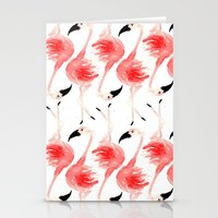 flamingos Stationery Cards featuring Flamingos! by Bouffants and Broken Hearts
