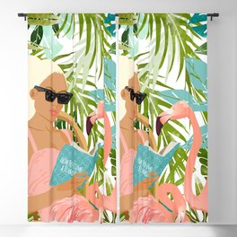 How To Become a Flamingo #illustration Blackout Curtain