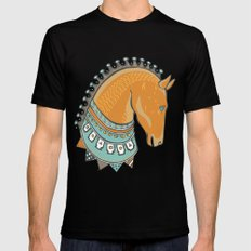 Horse Head - Chocolate Mens Fitted Tee Black SMALL