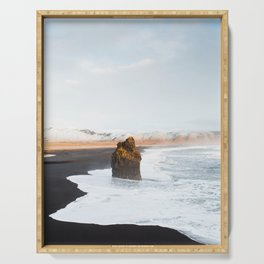 Black Sand Beach, South Iceland Serving Tray