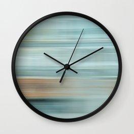 Life (Aqua and Burnt Rose) Wall Clock
