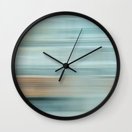 Life (Aqua and Burnt Rose) Wall Clock