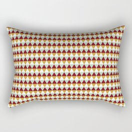 Geometric modern abstract red yellow diamond shapes pattern Rectangular Pillow