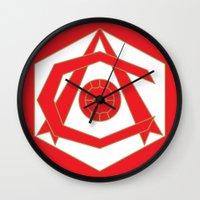 fire emblem Wall Clocks featuring emblem by arsenalgooner