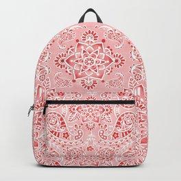 Pink Paisley Bandana Backpack