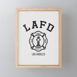 Firefighters LA Framed Mini Art Print