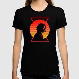Black Widow 80's Character Poster T-shirt