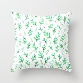 Under the Mistletoe Throw Pillow