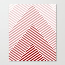 Shades of Red Abstract geometric pattern Canvas Print