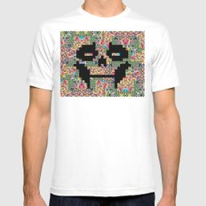 The Black smiles Mens Fitted Tee White MEDIUM