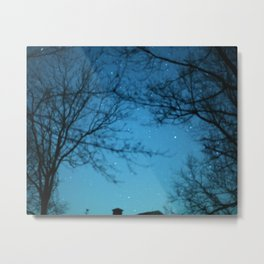 Starry Sky - Night Photography Shot Metal Print
