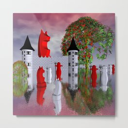 guardians of chess castle Metal Print