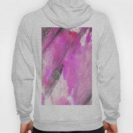 Artistic purple pink black watercolor painting brushstrokes Hoody