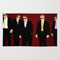 reservoir dogs Area & Throw Rugs featuring Reservoir Dogs by Tom Storrer
