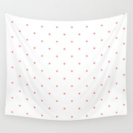 Pink Polka Dots Wall Tapestry