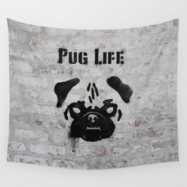 Pug Life Wall Tapestry