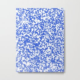 Small Spots - White and Royal Blue Metal Print