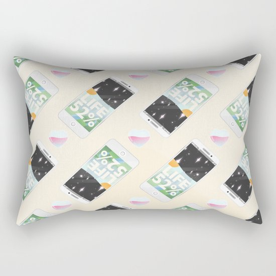 Charge Your Life Rectangular Pillow